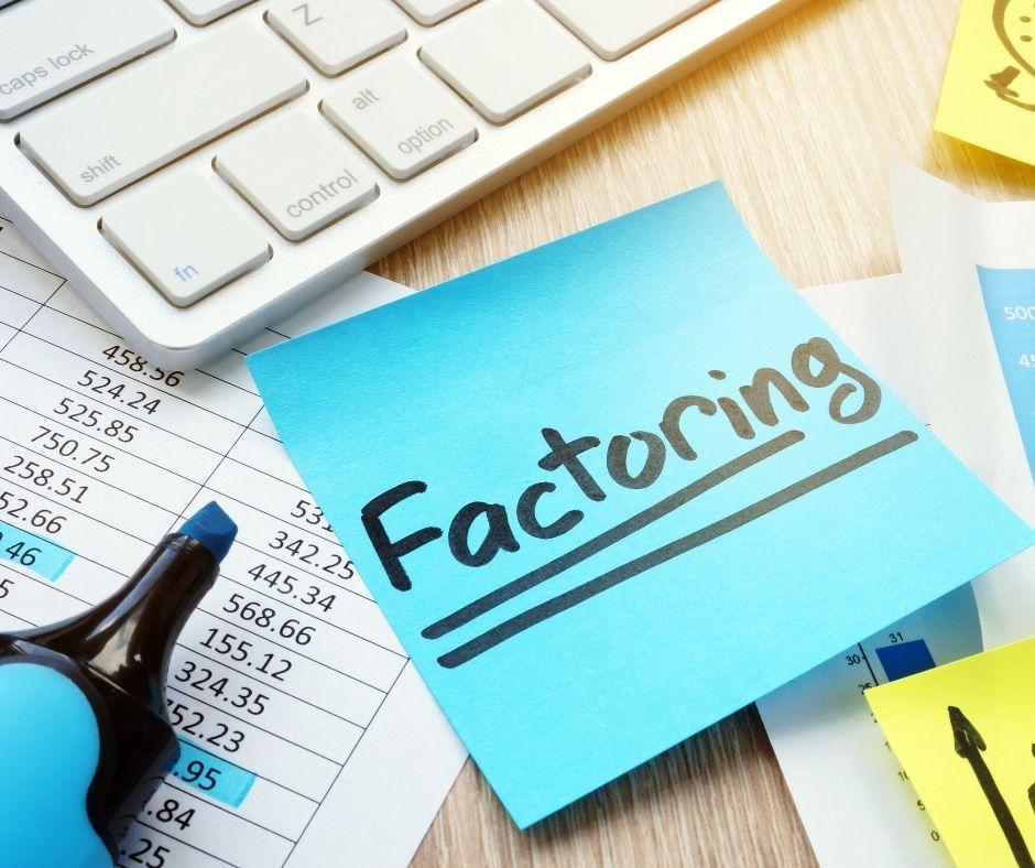 Factoring auf ein PostIt geschrieben